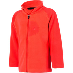 Color Kids Rafting Fleece 2 Face Chaqueta Niños, fiery coral